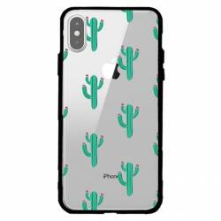 Coque transparente magnetique Apple Iphone XS Max Cactus
