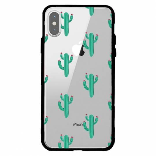Coque transparente magnetique Iphone XS Max Cactus