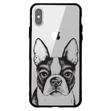 Coque transparente magnetique Apple Iphone XS Max Bull dog