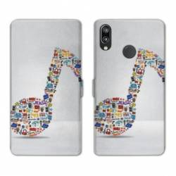 RV Housse cuir portefeuille Huawei Honor 10 Lite / P Smart (2019) Musique