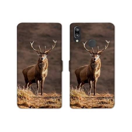 RV Housse cuir portefeuille Huawei Honor 10 Lite / P Smart (2019) chasse peche