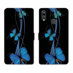 RV Housse cuir portefeuille Huawei Honor 10 Lite / P Smart (2019) papillons