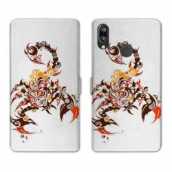 RV Housse cuir portefeuille Huawei Honor 10 Lite / P Smart (2019) reptiles