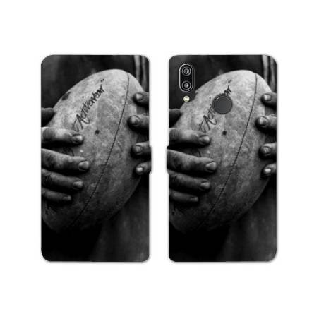 RV Housse cuir portefeuille Huawei Honor 10 Lite / P Smart (2019) Rugby