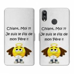 RV Housse cuir portefeuille Huawei Honor 10 Lite / P Smart (2019) Humour