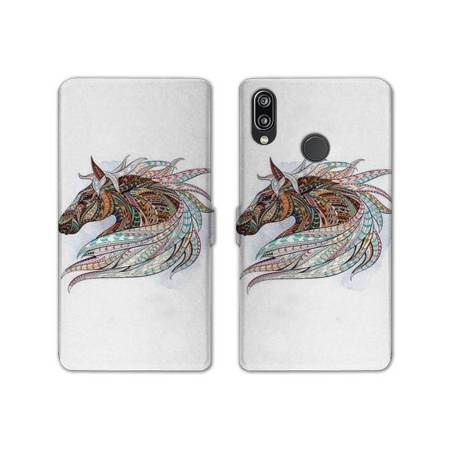 RV Housse cuir portefeuille Huawei Honor 10 Lite / P Smart (2019) Animaux Ethniques