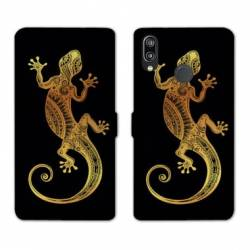 RV Housse cuir portefeuille Huawei Honor 10 Lite / P Smart (2019) Animaux Maori