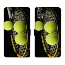 RV Housse cuir portefeuille Huawei Honor 10 Lite / P Smart (2019) Tennis