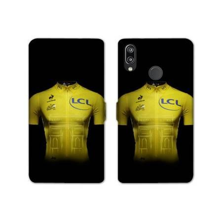 RV Housse cuir portefeuille Huawei Honor 10 Lite / P Smart (2019) Cyclisme