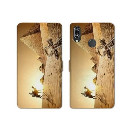RV Housse cuir portefeuille Huawei Honor 10 Lite / P Smart (2019) Egypte
