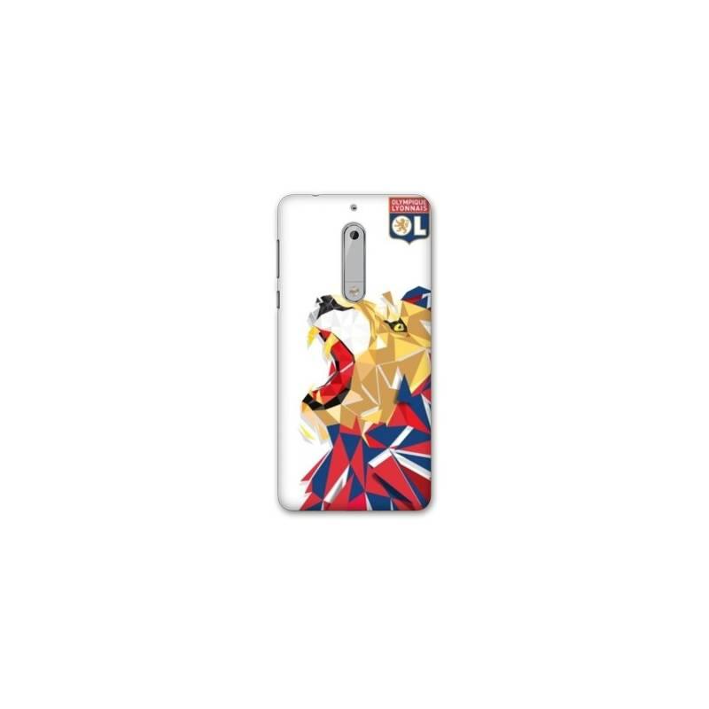 Coque Nokia 7.1 License Olympique Lyonnais OL - lion color