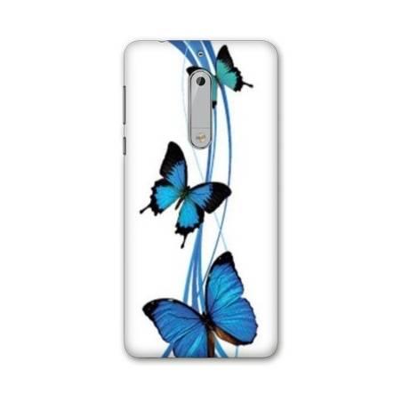 Coque Nokia 7.1 papillons