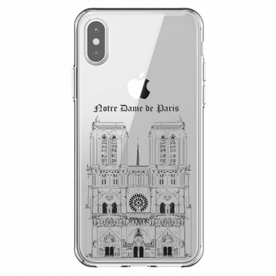 Coque transparente Iphone X / XS Notre Dame Paris