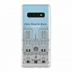 Coque transparente Samsung Galaxy S10 Plus Notre Dame Paris