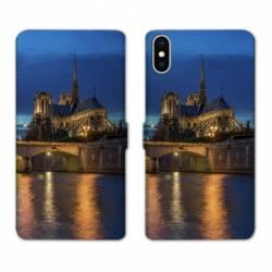 RV Housse cuir portefeuille Iphone XR Monument