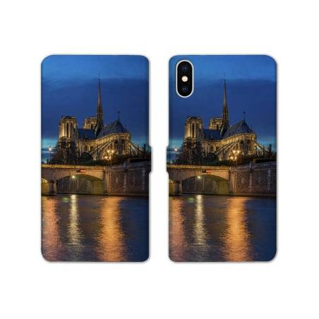 RV Housse cuir portefeuille Iphone X / XS Monument