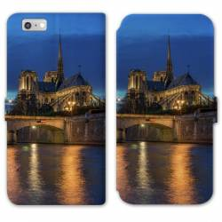 RV Housse cuir portefeuille Iphone 8 Monument