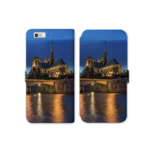 RV Housse cuir portefeuille Iphone 6 / 6s Monument