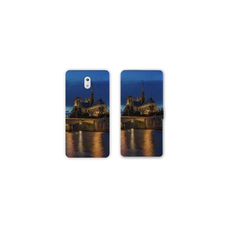 RV Housse cuir portefeuille Nokia 3.1 (2018) Monument