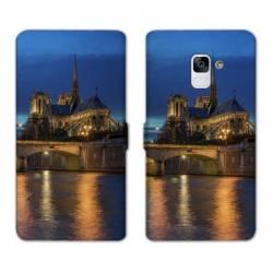 RV Housse cuir portefeuille Samsung Galaxy S9 Monument