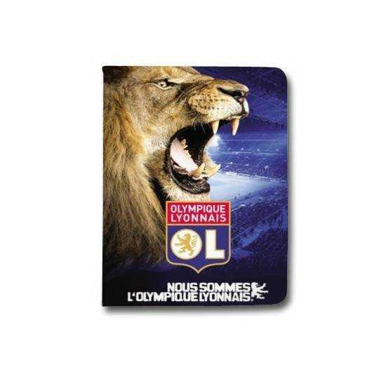 Housse portefeuille Samsung Galaxy TAB A (2018) - T590 Licence Olympique Lyonnais - Rage de vaincre