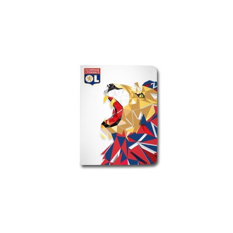 Housse portefeuille Samsung Galaxy TAB A (2018) - T590 License Olympique Lyonnais OL - lion color