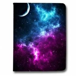 Housse portefeuille Samsung Galaxy TAB A (2018) - T590 Espace Univers Galaxie