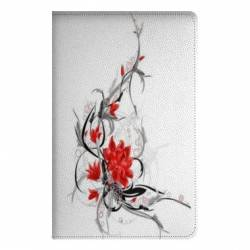 Housse portefeuille Samsung Galaxy TAB A (2018) - T590 fleurs