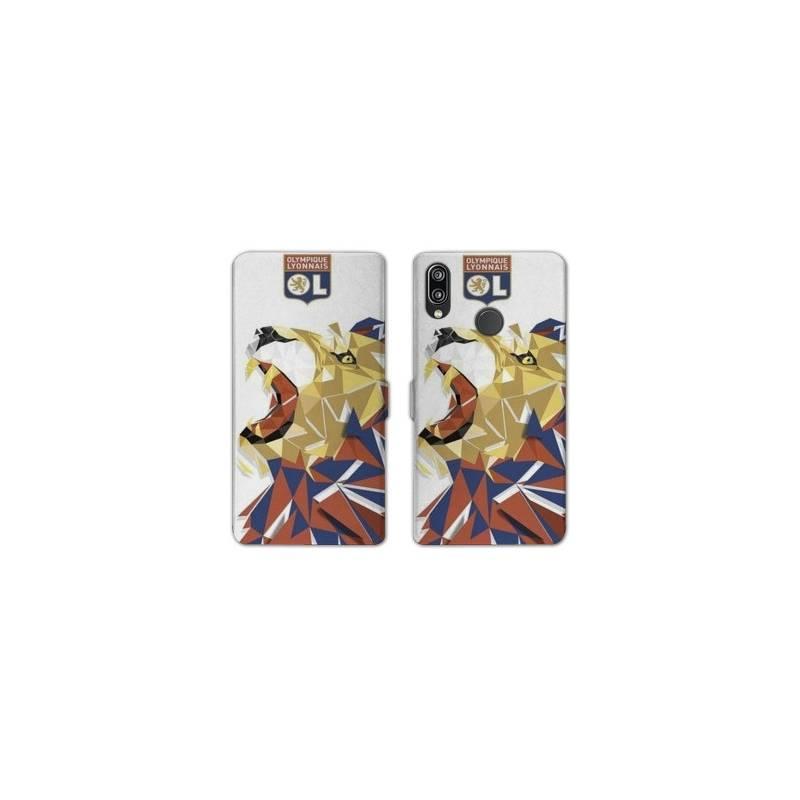 RV Housse cuir portefeuille Samsung Galaxy A40 License Olympique Lyonnais OL - lion color