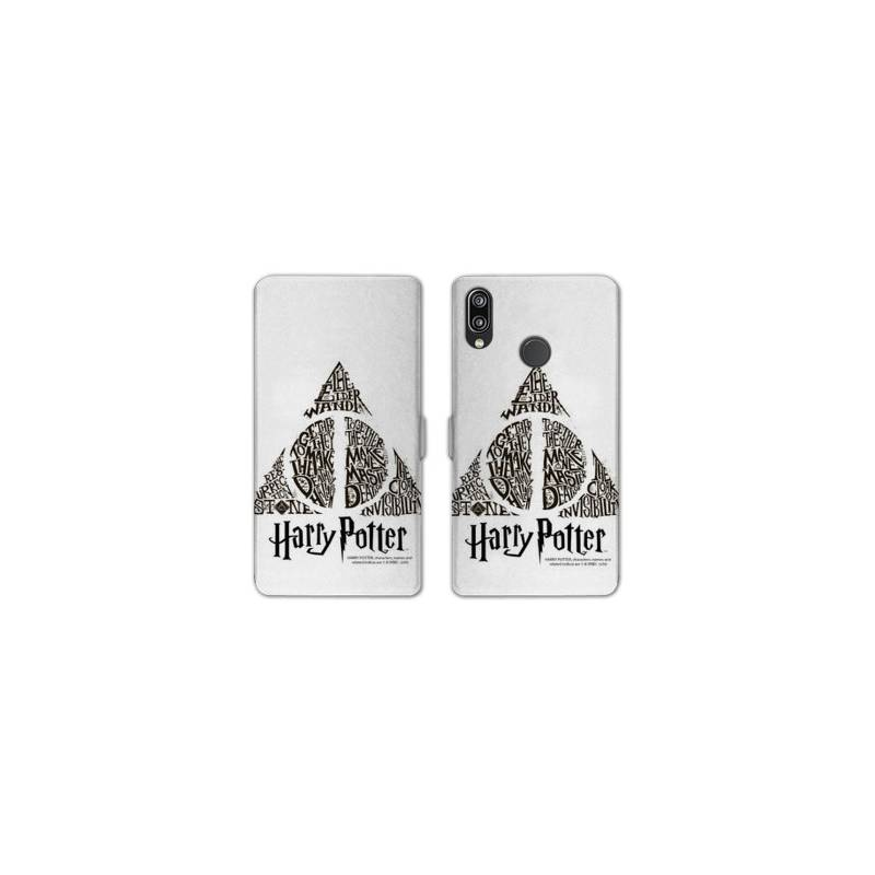 RV Housse cuir portefeuille pour Samsung Galaxy A40 WB License harry potter pattern