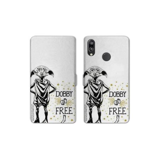 RV Housse cuir portefeuille Samsung Galaxy A40 WB License harry potter dobby