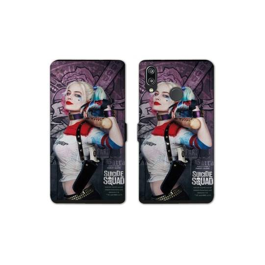 RV Housse cuir portefeuille pour Samsung Galaxy A40 Harley Quinn