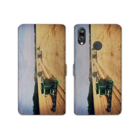 RV Housse cuir portefeuille Samsung Galaxy A40 Agriculture