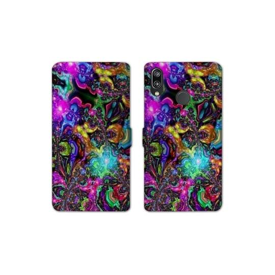 RV Housse cuir portefeuille pour Samsung Galaxy A40 Psychedelic