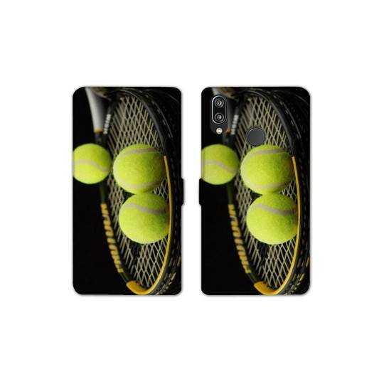 RV Housse cuir portefeuille pour Samsung Galaxy A40 Tennis