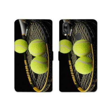 RV Housse cuir portefeuille Samsung Galaxy A40 Tennis