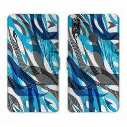 RV Housse cuir portefeuille Samsung Galaxy A40 Etnic abstrait