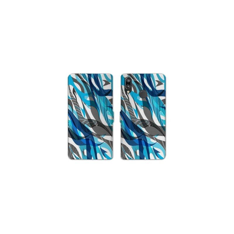 RV Housse cuir portefeuille Samsung Galaxy A40 Etnic abstrait