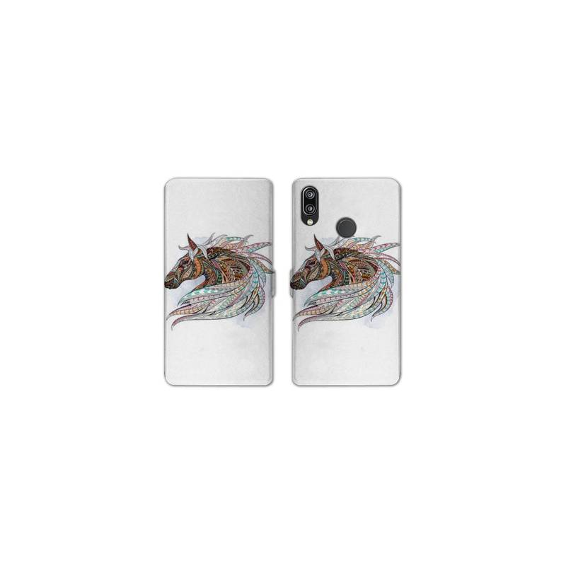 RV Housse cuir portefeuille Samsung Galaxy A40 Animaux Ethniques