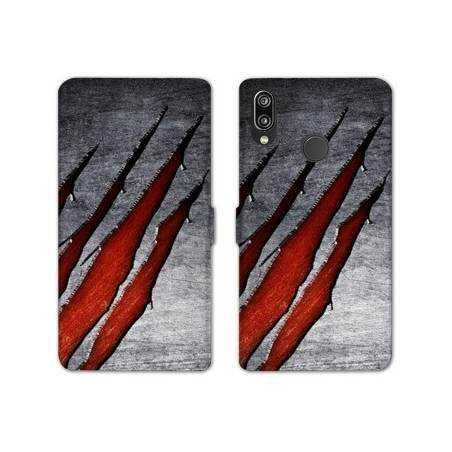 RV Housse cuir portefeuille Samsung Galaxy A40 Texture