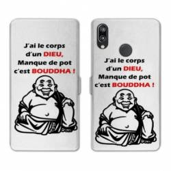 RV Housse cuir portefeuille Samsung Galaxy A40 Humour