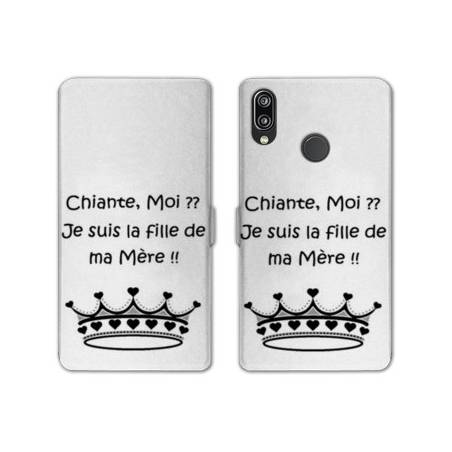 RV Housse cuir portefeuille Samsung Galaxy A40 Humour