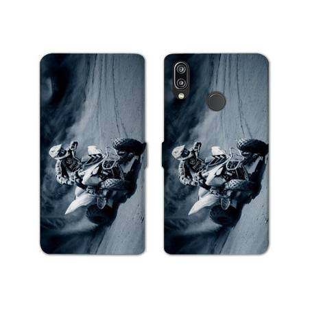 RV Housse cuir portefeuille Samsung Galaxy A40 Moto