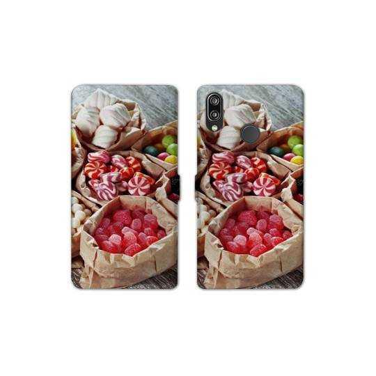 RV Housse cuir portefeuille Samsung Galaxy A40 Gourmandise