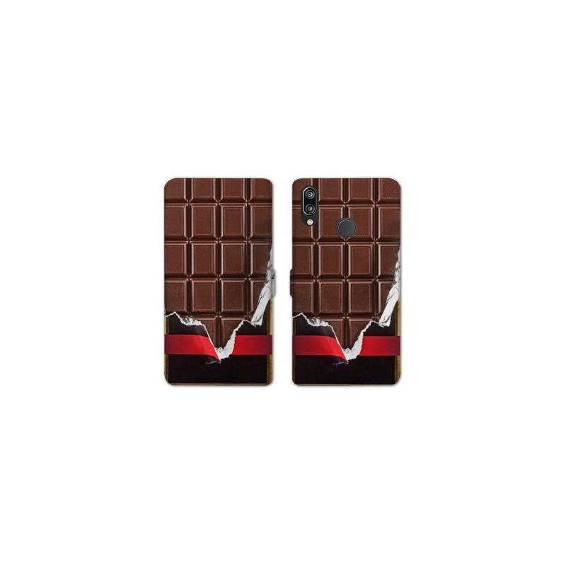 RV Housse cuir portefeuille Samsung Galaxy A40 Trompe oeil