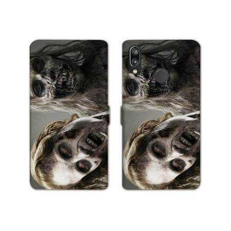 RV Housse cuir portefeuille Samsung Galaxy A40 Horreur