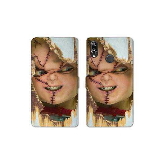 RV Housse cuir portefeuille pour Samsung Galaxy A40 Horreur