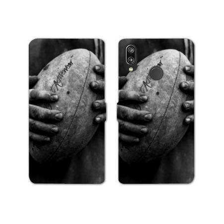 RV Housse cuir portefeuille Samsung Galaxy A40 Rugby