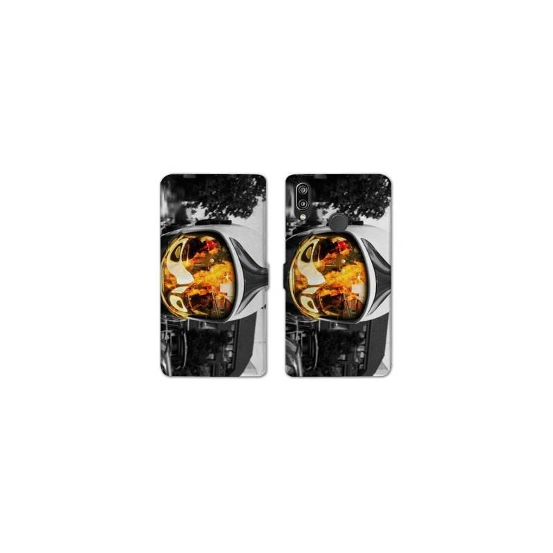 RV Housse cuir portefeuille Samsung Galaxy A40 pompier police