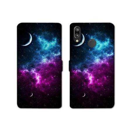 RV Housse cuir portefeuille Samsung Galaxy A40 Espace Univers Galaxie